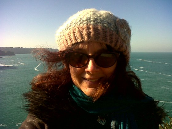 Me in woolly hat and sunglasses