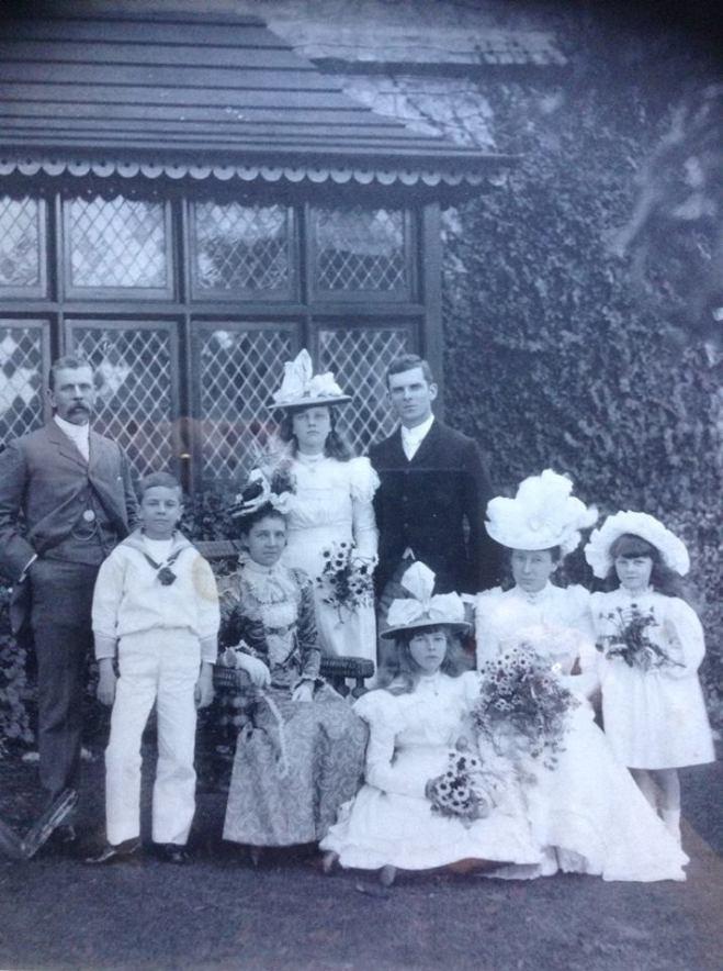 Mabel and George's wedding, Colombo, Ceylon, 1899